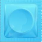 Pale blue condom