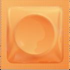 Orange condom