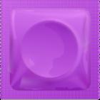 Purple condom