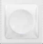 White condom