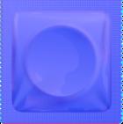 Dark blue condom